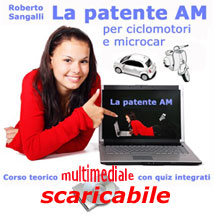 Corso multimediale e quiz ministeriali patente AM ciclomotore da scaricare download