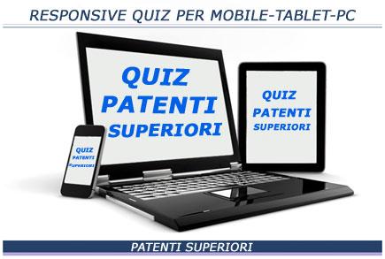 Responsive quiz online per patenti superiori per mobile tablet PC